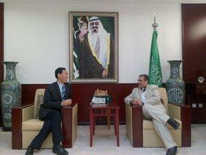 沙特商务参赞与公司董事长于志毅先生