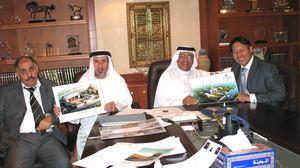 阿联酋财政与工业部长办公室主任米拉扎与我集团合伙人于水先生