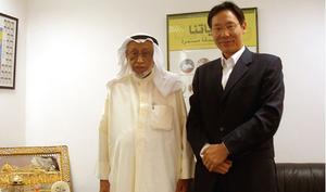 科威特国际伊斯兰慈善机构主席与公司合伙人于水先生