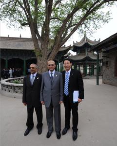 公司合伙人于水先生与也门外交部部长